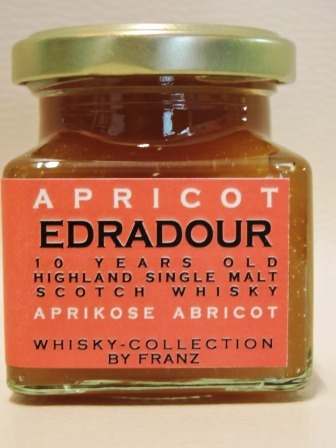 Aprikose mit Edradour 10 years old Whisky 150g