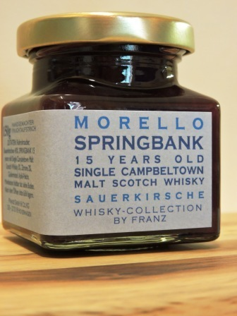 Sauerkirsche mit Springbank 15 years old Whisky 150g