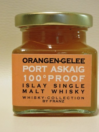 Orangen-Gelee mit Port Askaig 100° Proof Whisky 150g