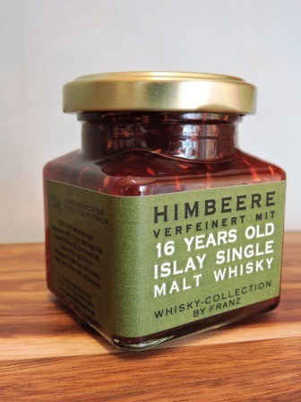 Himbeere mit 16 years old Islay Whisky 150g