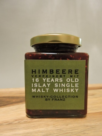 Himbeere mit 16 years old Islay Whisky 250g