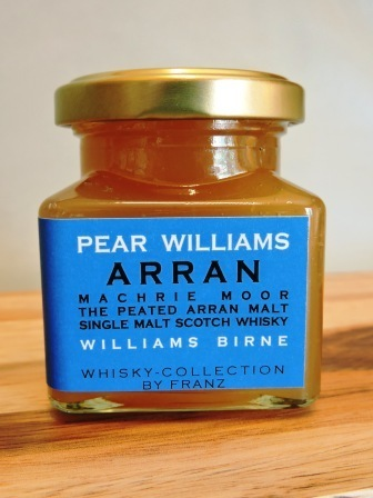 Williams-Birne mit Arran Machrie Moor Whisky 150g