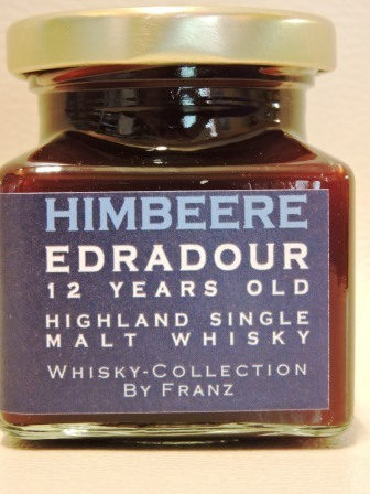 Himbeere kernlos mit Edradour 12 years old Whisky 150g