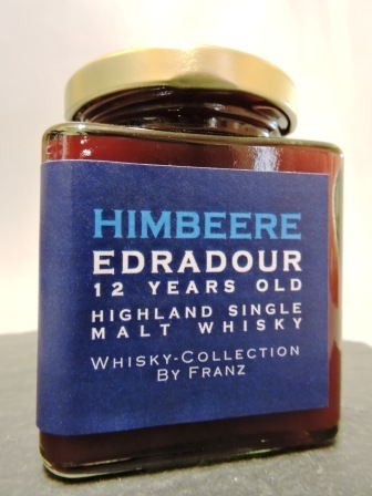 Himbeere kernlos mit Edradour 12 years old Whisky 250g