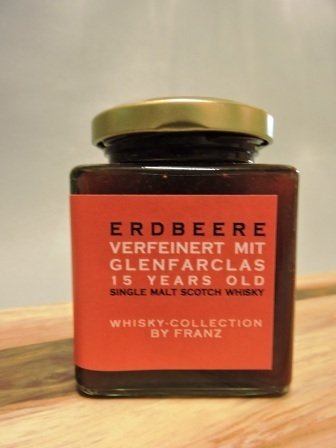 Erdbeere mit Glenfarclas 15 years old Whisky 250g