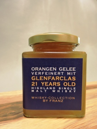 Orangen-Gelee mit Glenfarclas 21 years old Whisky 250g