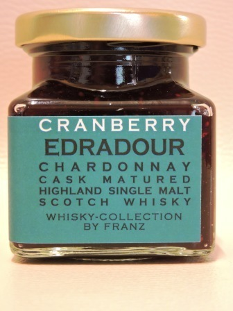 Cranberry mit Edradour Chardonnay Cask Whisky 150g