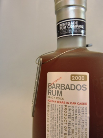 RENEGADE RUM COMPANY BARBADOS RUM 2000/2009 AGED 9 YEARS
