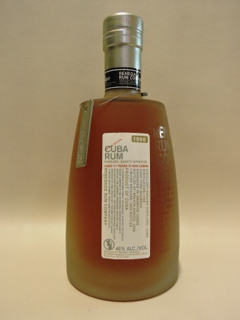 RENEGADE RUM COMPANY CUBA RUM 1998/2009 AGED 11 YEARS