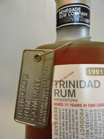 RENEGADE RUM COMPANY TRINIDAD RUM 1991/2009 AGED 17 YEARS