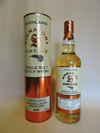 CRAIGELLACHIE 2008/2017 8 YEARS OLD SINGLE MALT WHISKY SIGNATORY VINTAGE