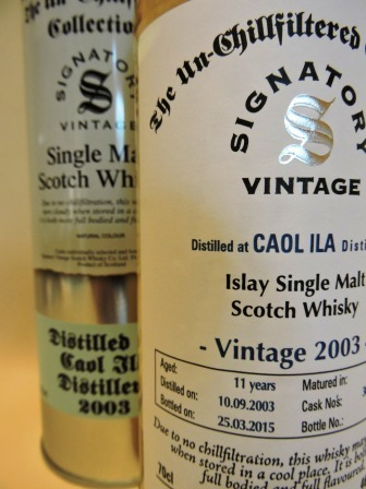 CAOL ILA 2003/2015 11 YEARS OLD SINGLE MALT WHISKY SIGNATORY UN-CHILLFILTERED