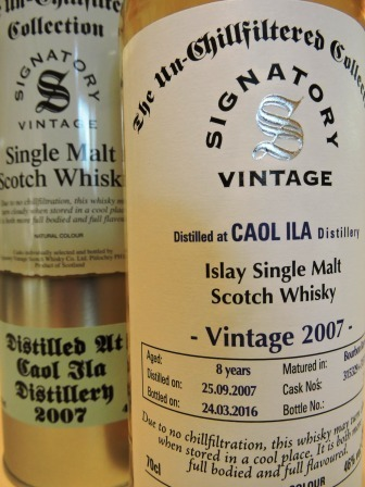CAOL ILA 2007/2016 8 YEARS OLD SINGLE MALT WHISKY SIGNATORY UN-CHILLFILTERED