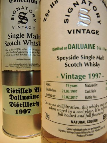 DAILUAINE 1997/2017 19 YEARS OLD SINGLE MALT WHISKY SIGNATORY UN-CHILLFILTERED