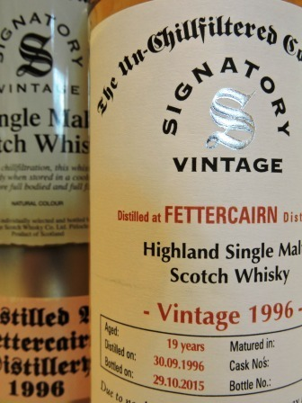 FETTERCAIRN 1996/2015 19 YEARS OLD SINGLE MALT WHISKY SIGNATORY UN-CHILLFILTERED