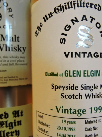 GLEN ELGIN 1995/2015 19 YEARS OLD SINGLE MALT WHISKY SIGNATORY UN-CHILLFILTERED