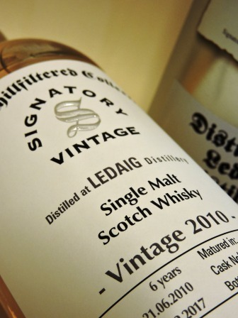 LEDAIG 2010/2017 6 YEARS OLD SINGLE MALT WHISKY SIGNATORY UN-CHILLFILTERED