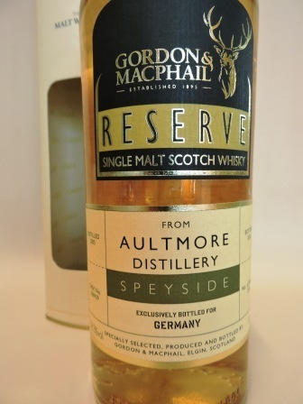 AULTMORE 2005/2016 SINGLE MALT WHISKY GORDON & MACPHAIL RESERVE BOTTLING FOR GERMANY