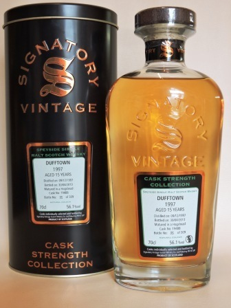 DUFFTOWN 1997/2013 15 YEARS OLD CASK STRENGTH SINGLE MALT WHISKY SIGNATORY