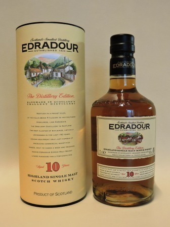 EDRADOUR 10 YEARS OLD SINGLE HIGHLAND MALT WHISY