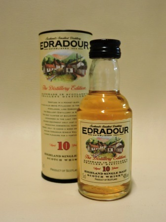 EDRADOUR 10 YEARS OLD SINGLE MALT WHISY MINIATUR
