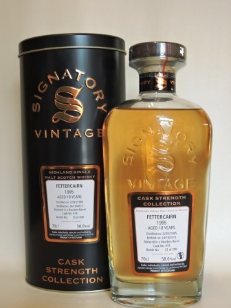 FETTERCAIRN 1995/2013 18 YEARS OLD CASK STRENGTH SINGLE MALT WHISKY SIGNATORY