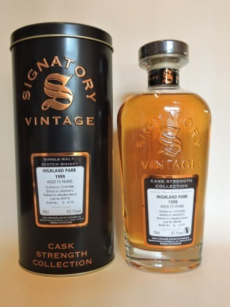 HIGHLAND PARK 1999/2015 15 YEARS OLD CASK STRENGTH SINGLE MALT WHISKY SIGNATORY
