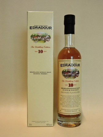 EDRADOUR 10 YEARS OLD SINGLE HIGHLAND MALT WHISY 0,2l alte Ausstattung