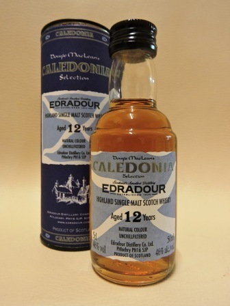 EDRADOUR 12 YEARS OLD SINGLE MALT WHISY MINIATUR