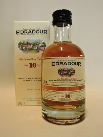EDRADOUR 10 YEARS OLD SINGLE HIGHLAND MALT WHISY 0,2l