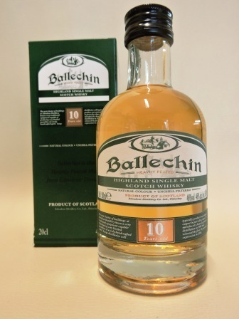 BALLECHIN 10 YEARS OLD WHISKY 0,20l