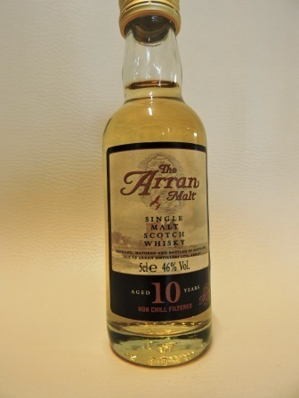ARRAN 10 YEARS OLD SINGLE MALT WHISY MINIATUR alte Ausstattung