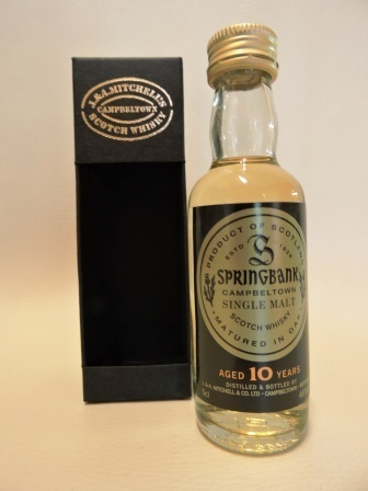 SPRINGBANK 10 YEARS OLD SINGLE MALT WHISY MINIATUR