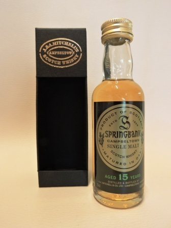 SPRINGBANK 15 YEARS OLD SINGLE MALT WHISY MINIATUR