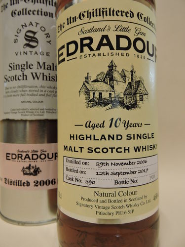 EDRADOUR 2006/2017 10 J. WHISKY SIGNATORY UN-CHILLFILTERED