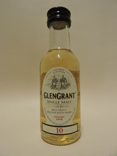GLEN GRANT 10 YEARS OLD SINGLE MALT WHISY MINIATUR