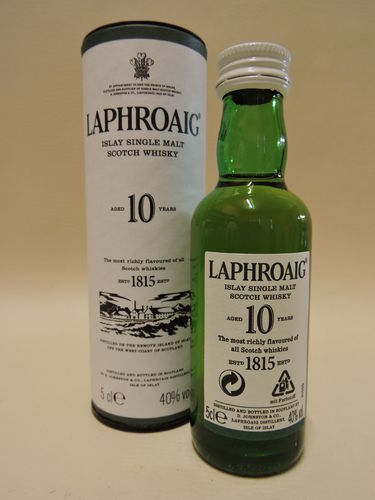 LAPHROAIG 10 YEARS OLD SINGLE MALT WHISY MINIATUR