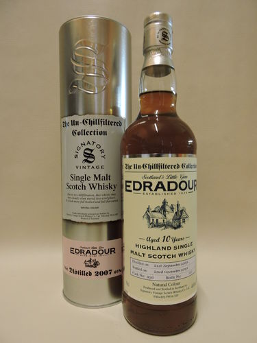EDRADOUR 2007/2017 10 J. WHISKY SIGNATORY UN-CHILLFILTERED
