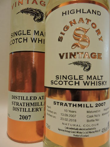 STRATHMILL 2007/2018 10 YEARS OLD SINGLE MALT WHISKY SIGNATORY VINTAGE