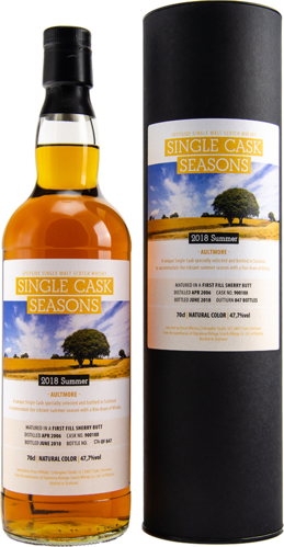 AULTMORE 2006/2018 SIGNATORY SINGLE CASK SEASONS SUMMER 2018