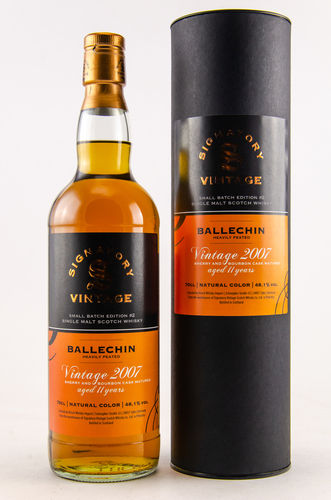 BALLECHIN 2007/2018 11 J. SMALL BATCH EDITION #2 SIGNATORY WHISKY