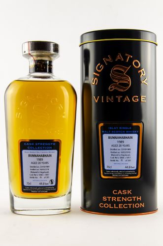 BUNNAHABHAIN 1989/2018 28 YEARS OLD CASK STRENGTH SINGLE MALT WHISKY SIGNATORY