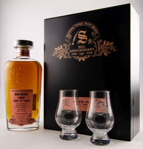 BEN NEVIS 1990/2018 27 YEARS OLD CASK STRENGTH SINGLE MALT WHISKY SIGNATORY